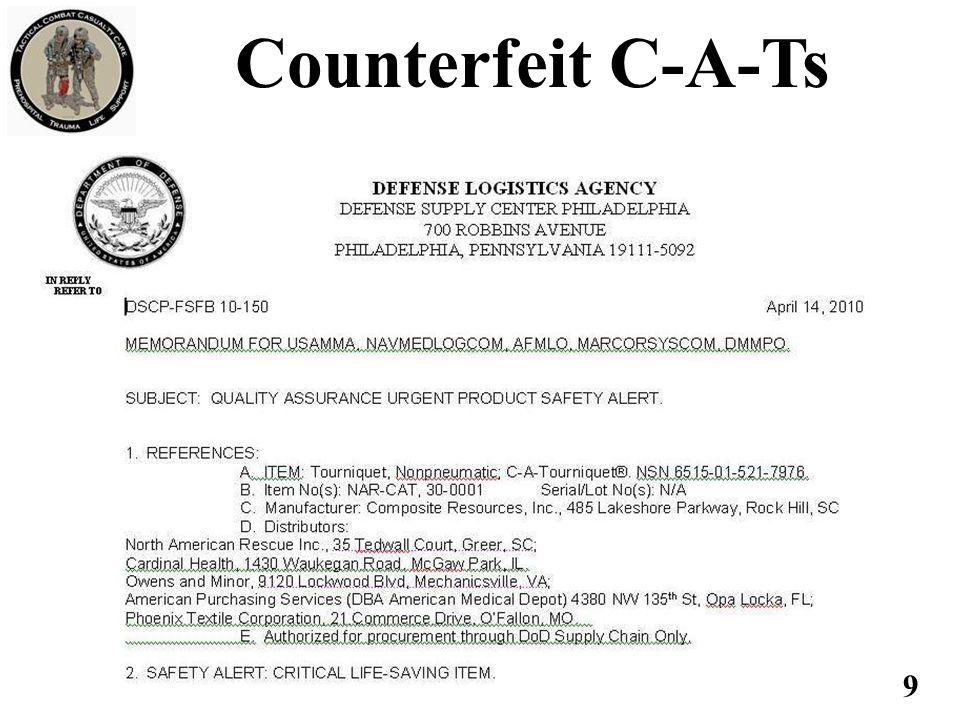 9 Counterfeit C-A-Ts