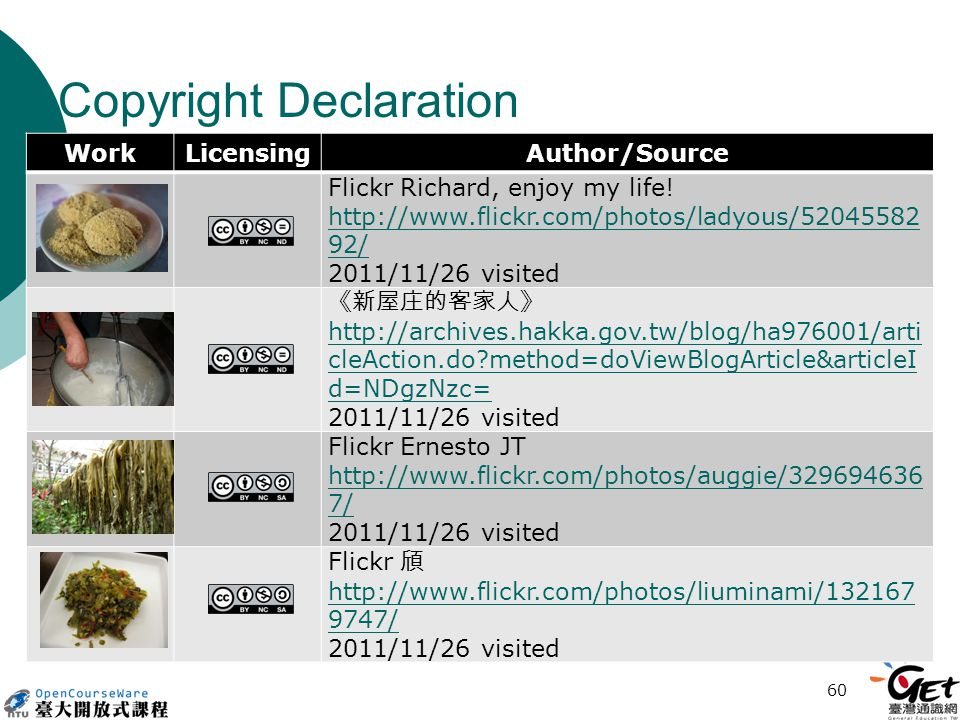 Copyright Declaration WorkLicensingAuthor/Source Flickr Richard, enjoy my life.