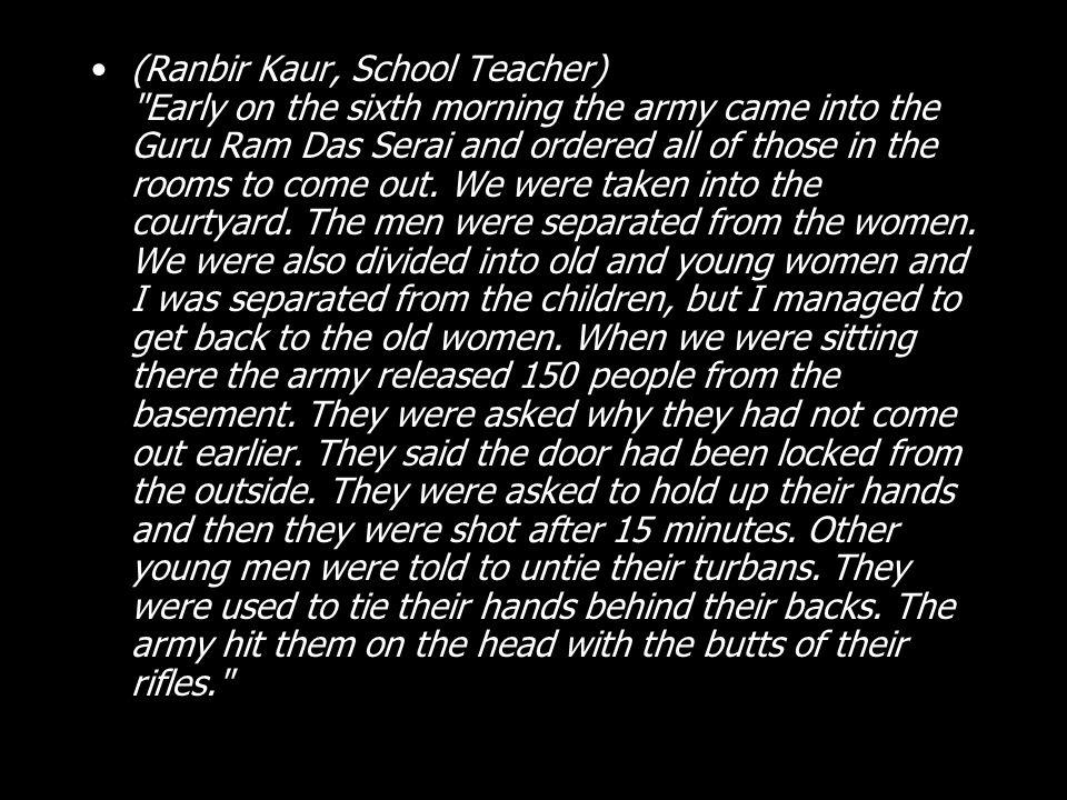 (Ranbir Kaur, School Teacher)
