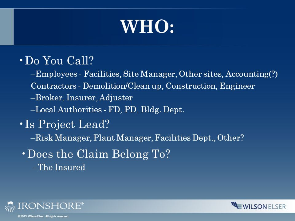 WHO: Do You Call.