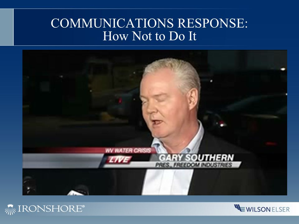 COMMUNICATIONS RESPONSE: How Not to Do It