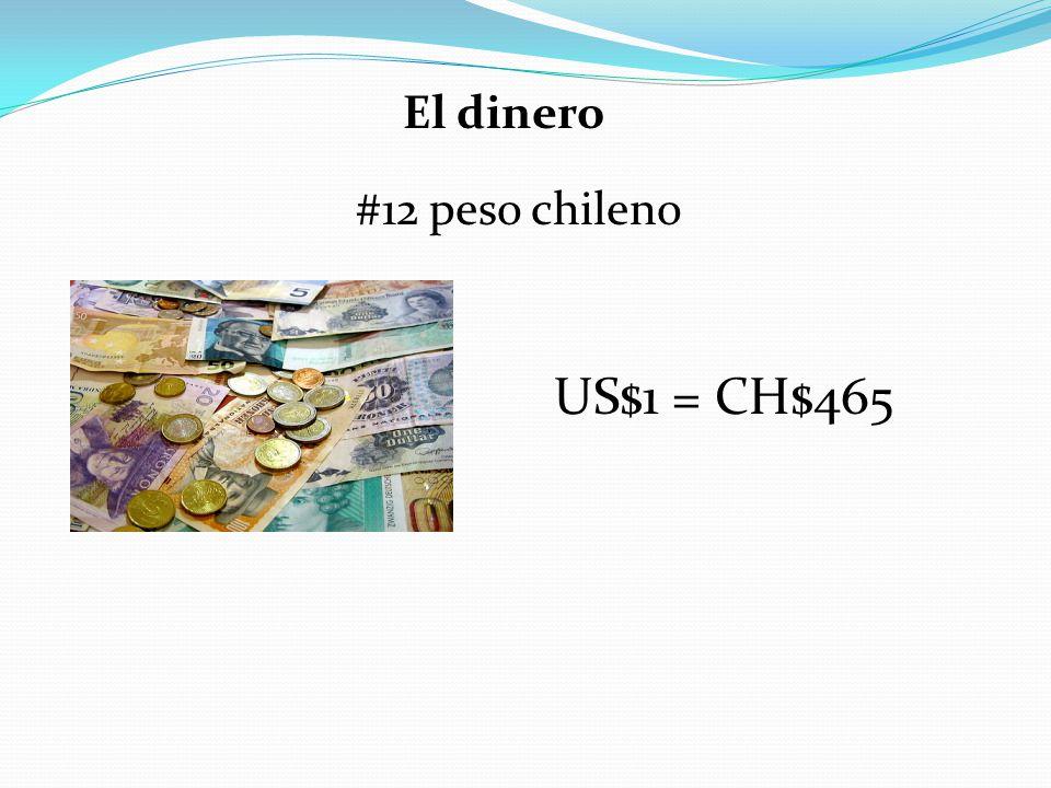 El dinero #12 peso chileno US$1 = CH$465