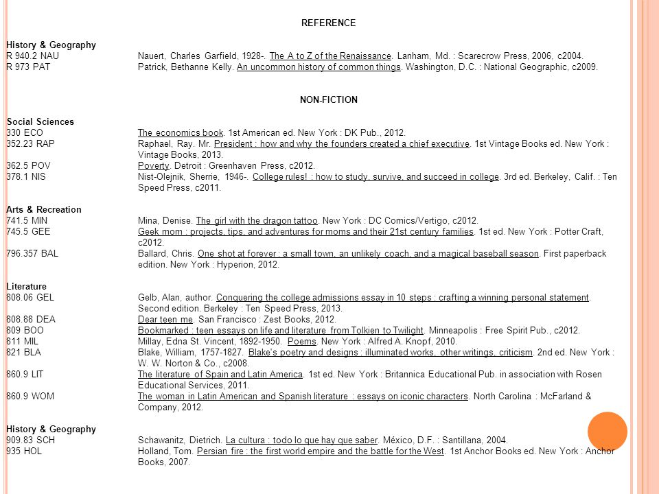 REFERENCE History & Geography R 940.2 NAUNauert, Charles Garfield, 1928-. The A to Z of the Renaissance. Lanham, Md. : Scarecrow Press, 2006, c2004. R