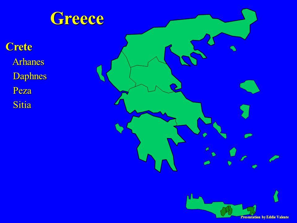 Presentation by Eddie Valente Crete Arhanes Arhanes Daphnes Daphnes Peza Peza Sitia Sitia Greece