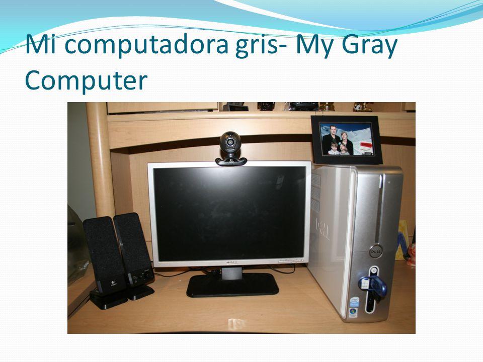 Mi computadora gris- My Gray Computer