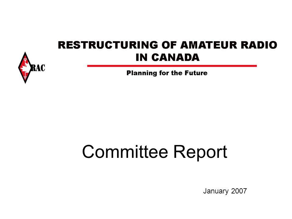 Committee Report January 2007