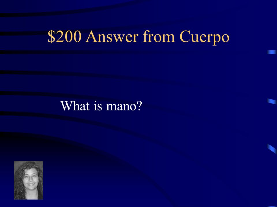 $200 Question from Cuerpo