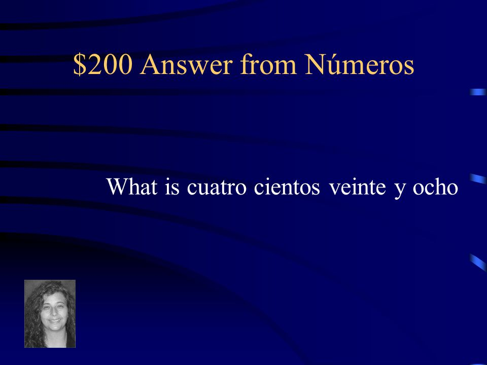 $200 Question from Números 428