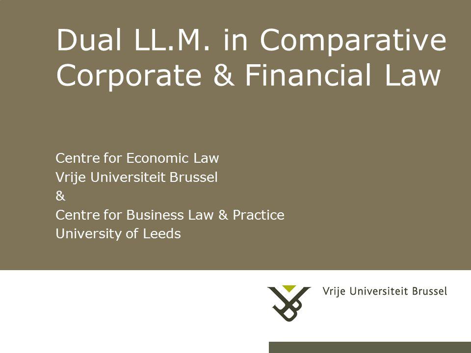 21-4-20151Herhaling titel van presentatie Dual LL.M.