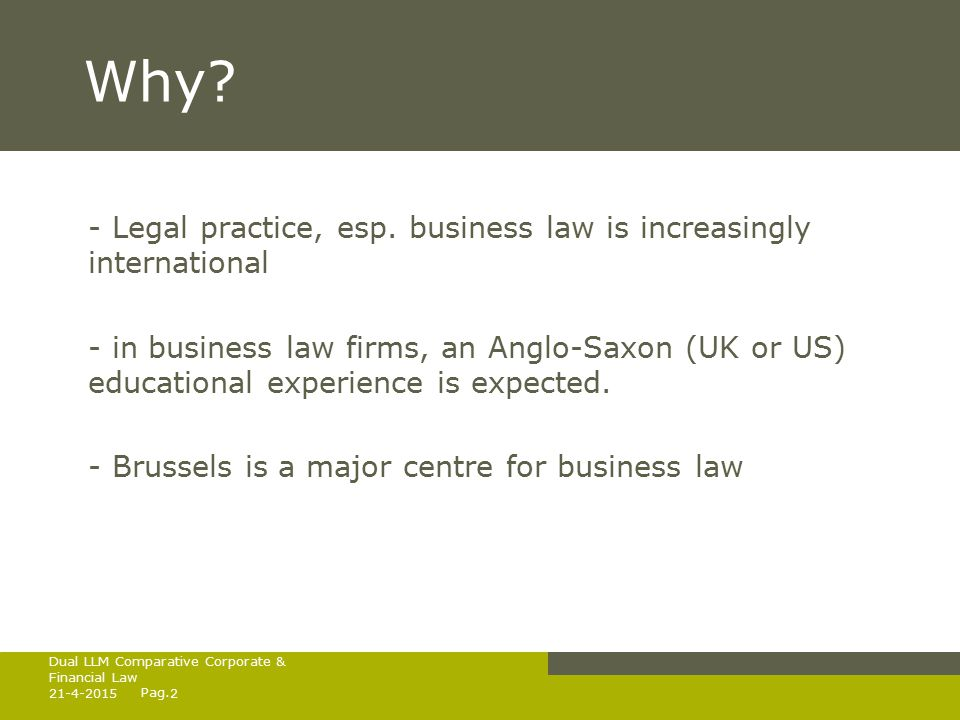 Pag.Why. - Legal practice, esp.