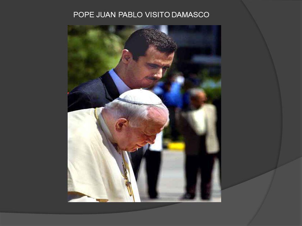 POPE JUAN PABLO VISITO DAMASCO