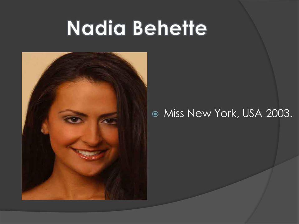  Miss New York, USA 2003.