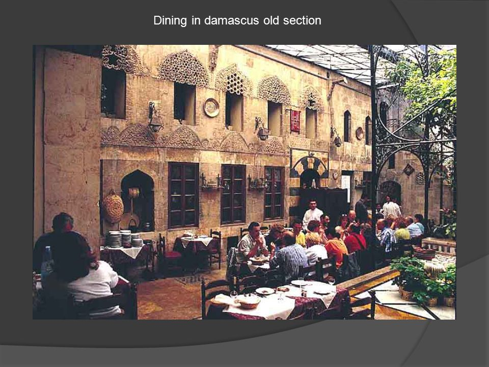Dining in damascus old section