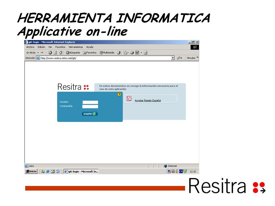 HERRAMIENTA INFORMATICA Applicative on-line
