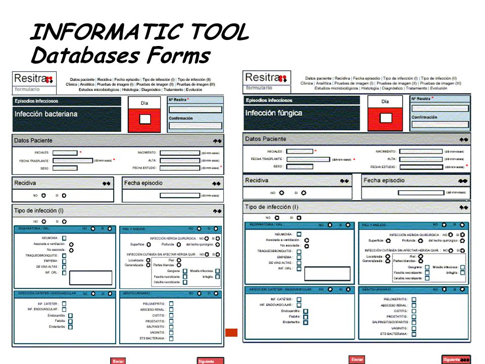 INFORMATIC TOOL Databases Forms