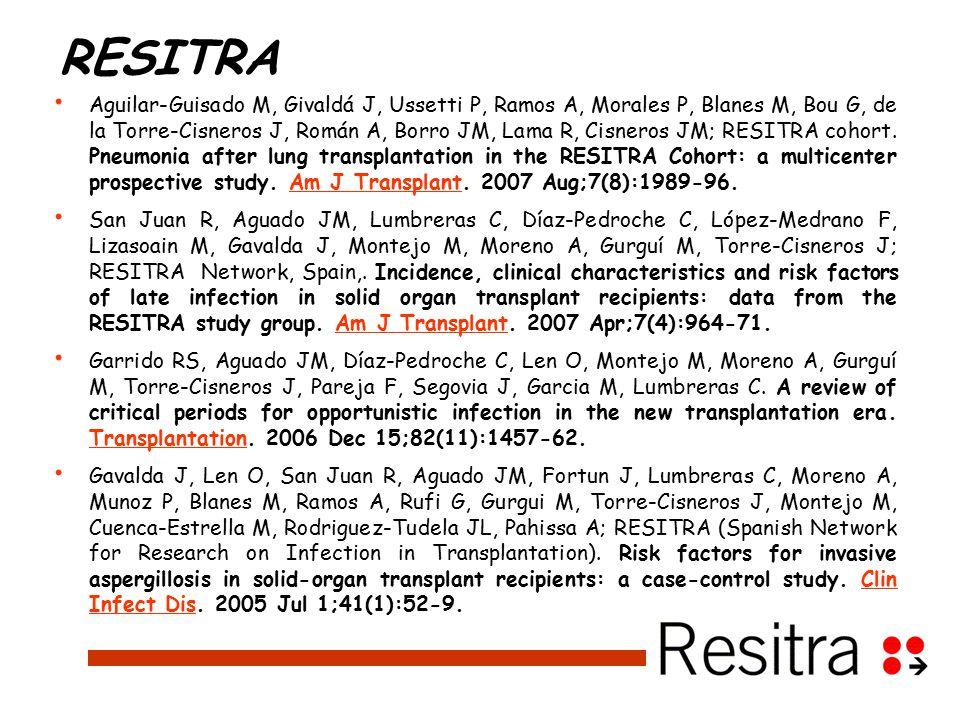 RESITRA Aguilar-Guisado M, Givaldá J, Ussetti P, Ramos A, Morales P, Blanes M, Bou G, de la Torre-Cisneros J, Román A, Borro JM, Lama R, Cisneros JM; RESITRA cohort.
