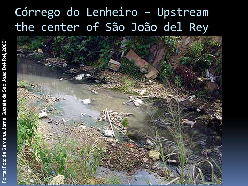 Córrego do Lenheiro – Upstream the center of São João del Rey Fonte: Foto da Semana, Jornal Gazeta de São João Del-Rei, 2008