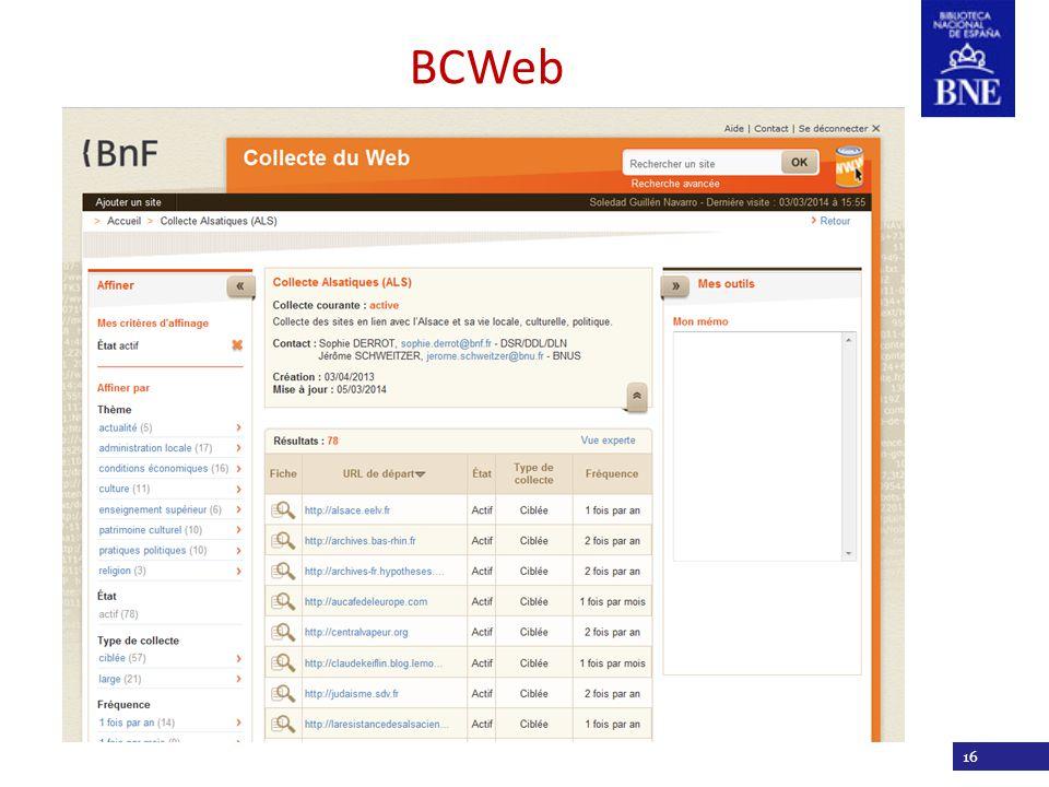 Título de la presentación 16 BCWeb