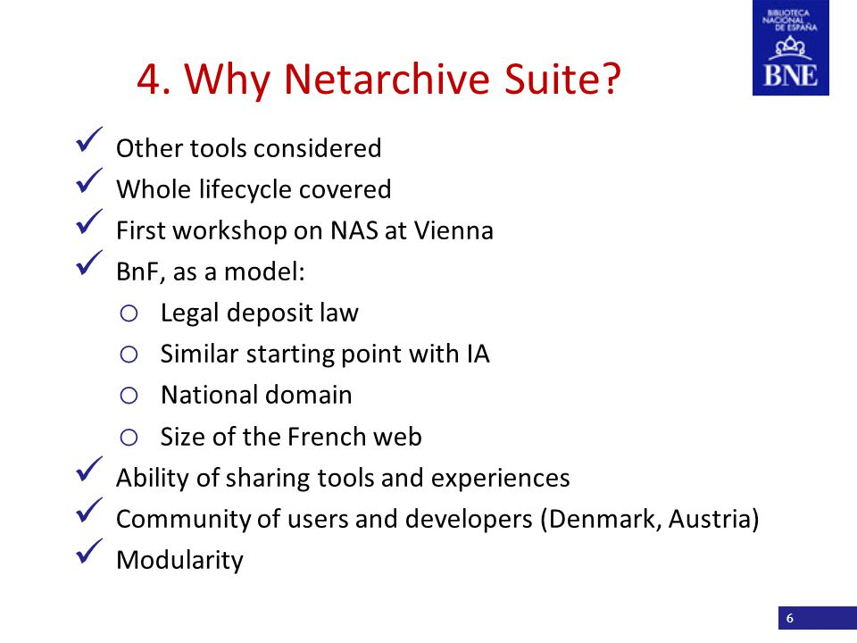 Título de la presentación 4. Why Netarchive Suite.