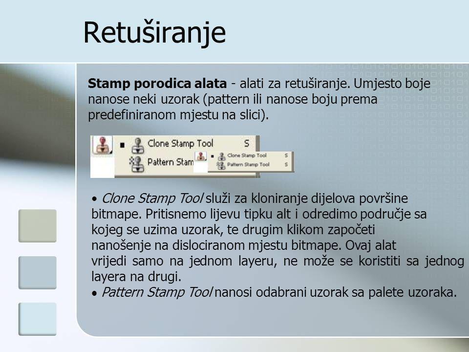 Retuširanje Stamp porodica alata - alati za retuširanje.