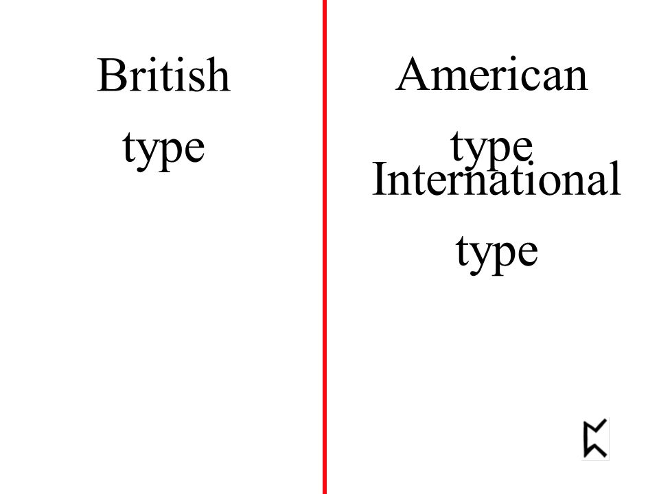 American type British type International type