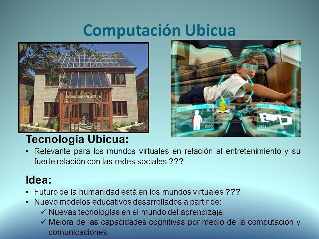 Tecnología Ubicua: Relevante para los mundos virtuales en relación al entretenimiento y su fuerte relación con las redes sociales .
