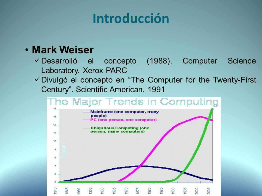 Mark Weiser Desarrolló el concepto (1988), Computer Science Laboratory.