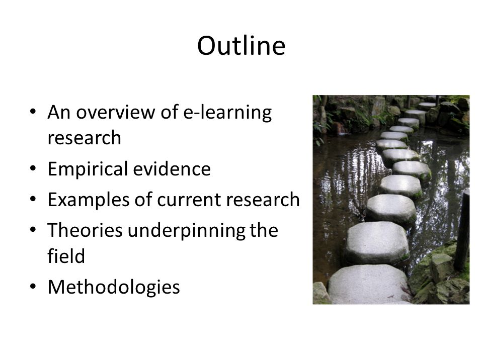 Empirical evidence Review of social and participatory media (Conole and Alevizou, 2010) Review of e-learning pedagogies (Conole, 2010) Review of TEL researchers (Conole, et al., 2011) Networked learning 'hotseat' on theory and methodology (Conole, 2010)