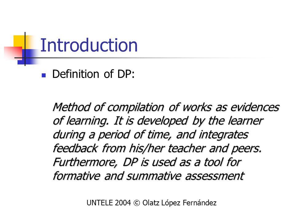 Pedagogical criteria for DP 2 nd macro category covers 6 areas: UNTELE 2004 © Olatz López Fernández