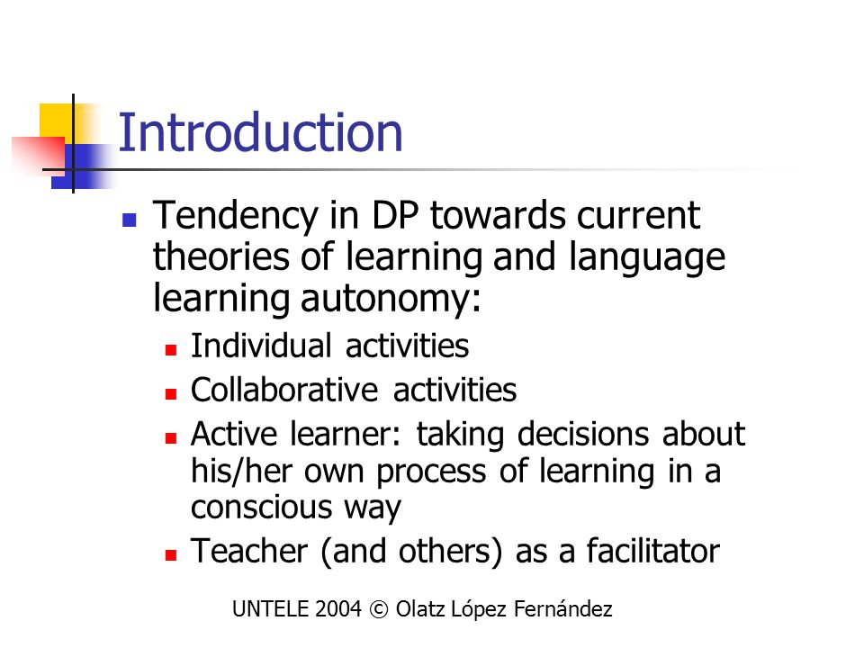 Pedagogical criteria for DP 3 rd macro category covers 3 areas: UNTELE 2004 © Olatz López Fernández
