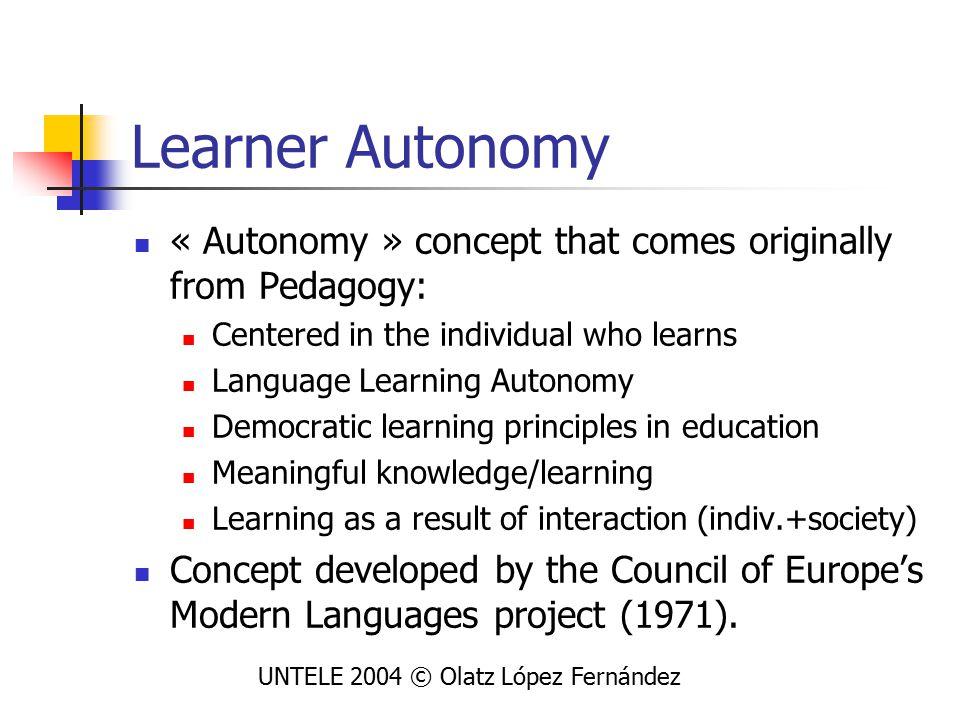 Application of DP to Language Leaner Autonomy (LLA) New methods of Language Learning (LL) are incorporating ELP: Forum: Méthode de Français (1 de Bachillerato), created by Baylon et alt.
