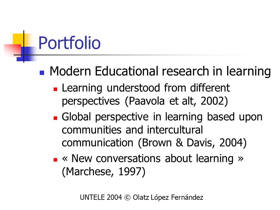 Application of DP to LLA How to assess by themselves their competencies in LL: UNTELE 2004 © Olatz López Fernández