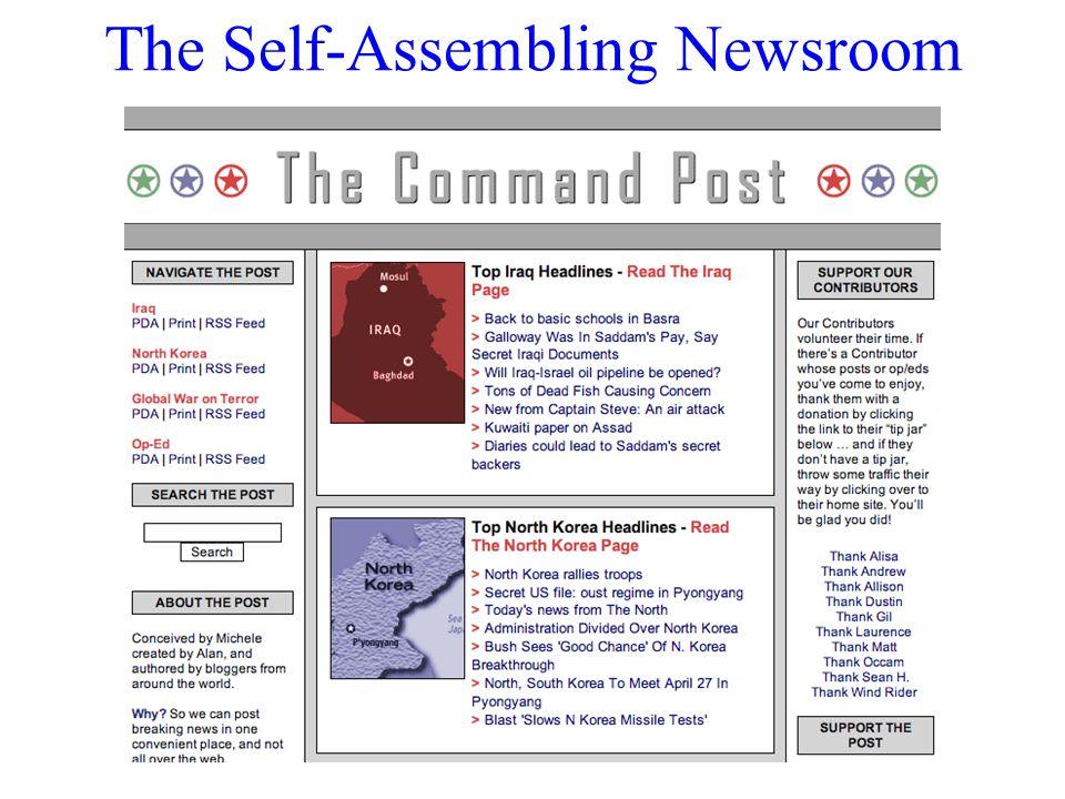 The Self-Assembling Newsroom