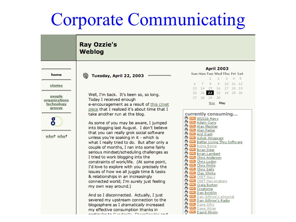 Corporate Communicating