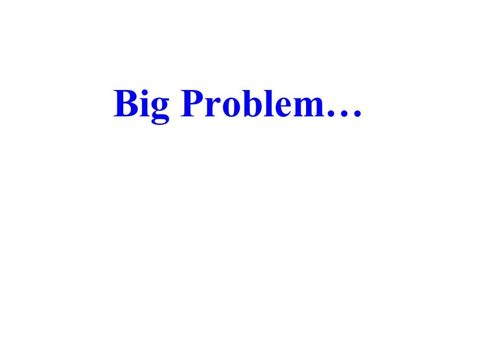 Big Problem…