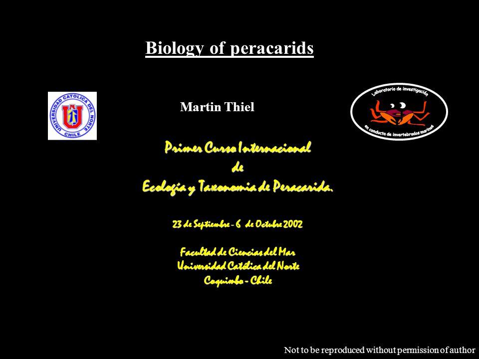 Biology of peracarids Primer Curso Internacional de Ecología y Taxonomia de Peracarida.