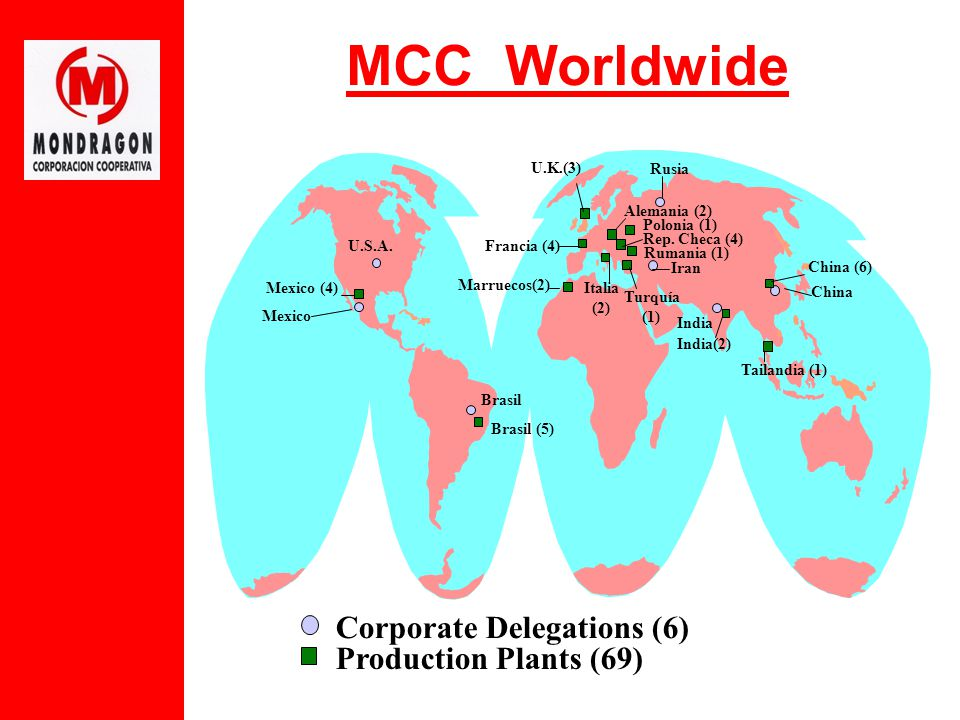 MCC Worldwide Production Plants (69) Corporate Delegations (6) Alemania (2) Rep.