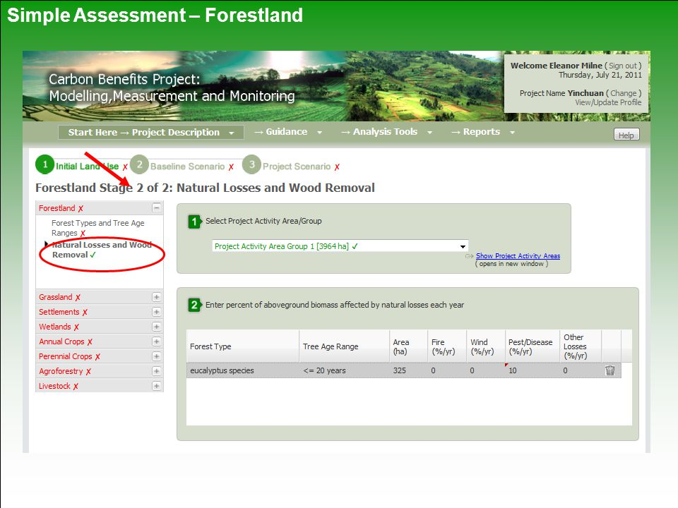 Simple Assessment – Forestland
