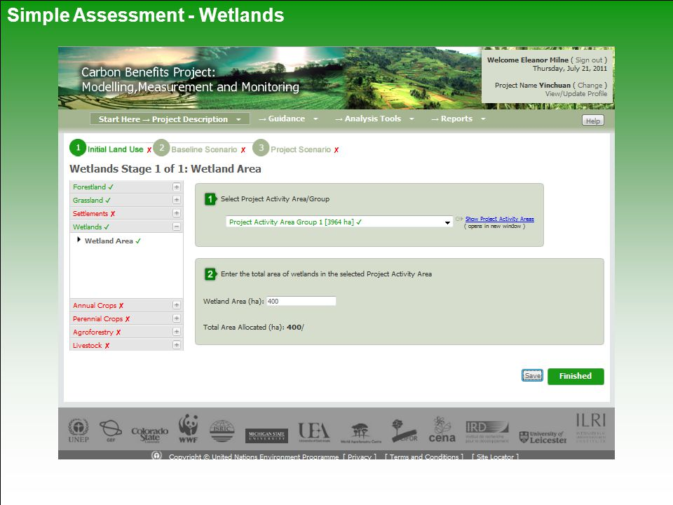 Simple Assessment - Wetlands