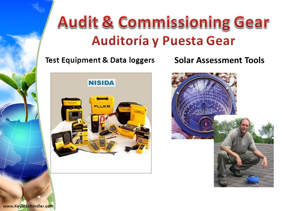 Test Equipment & Data loggers Solar Assessment Tools