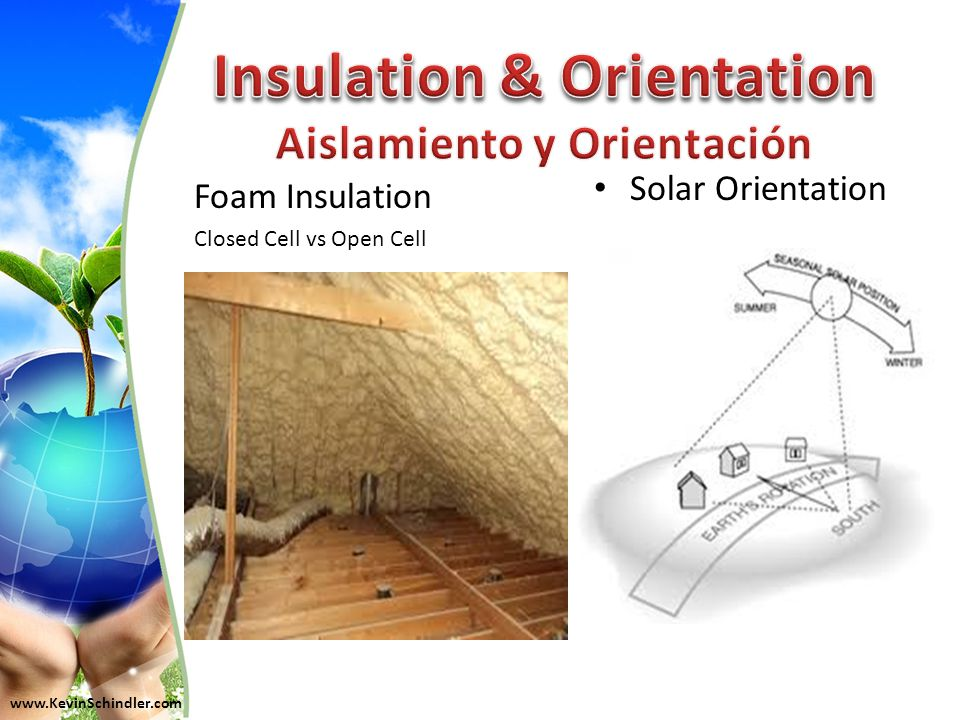 www.KevinSchindler.com Foam Insulation Closed Cell vs Open Cell Solar Orientation