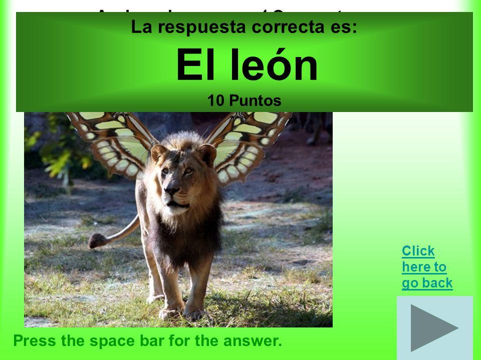 Emociones por 20 puntos Press the space bar for the answer.
