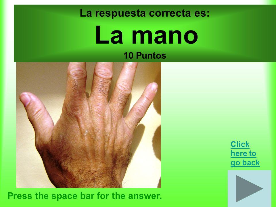Cuerpo por 20 puntos Press the space bar for the answer.