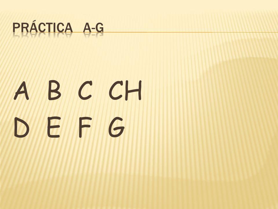 A B C CH D E F G