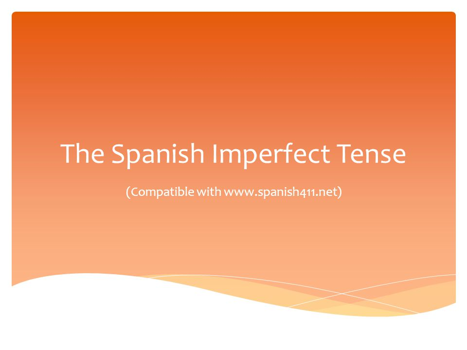 veíaveíamos veíasveíais veíaveían The Imperfect Tense: Irregular Verbs ver Ver is irregular because the e is not removed from the infinitive.