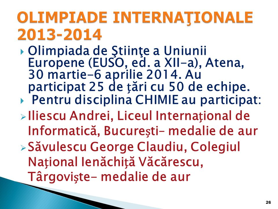  Olimpiada de Ştiinţe a Uniunii Europene (EUSO, ed.