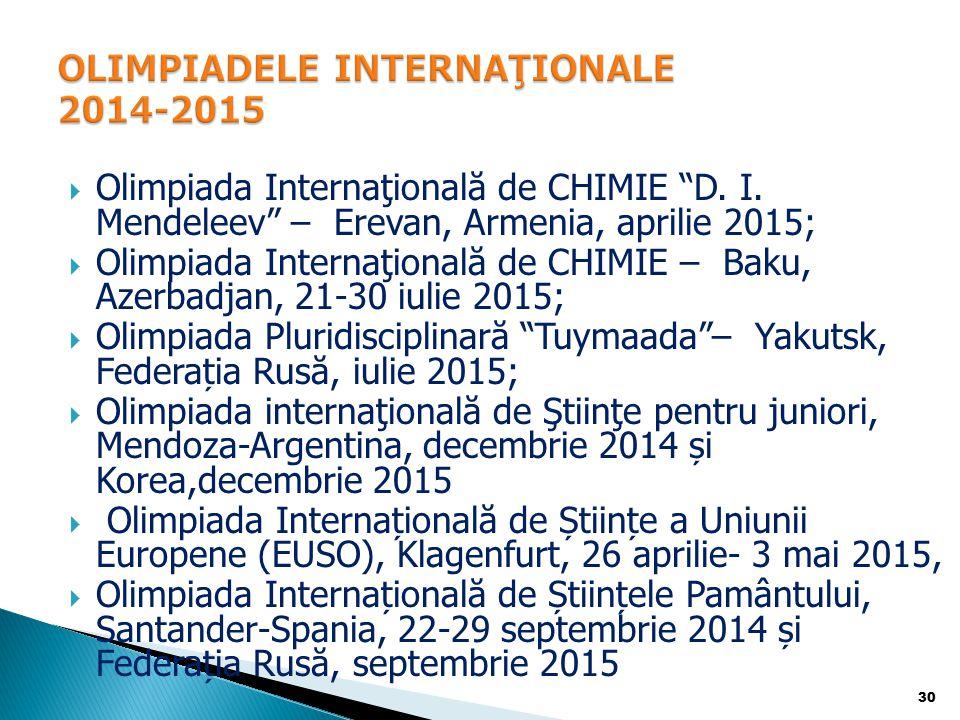  Olimpiada Internaţională de CHIMIE D.I.