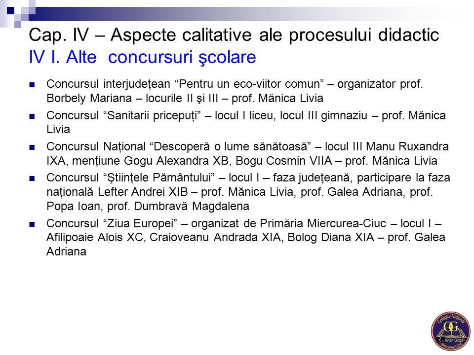 """Concursul interjudeţean """"Pentru un eco-viitor comun"""" – organizator prof. Borbely Mariana – locurile II şi III – prof. Mănica Livia Concursul """"Sanitari"""