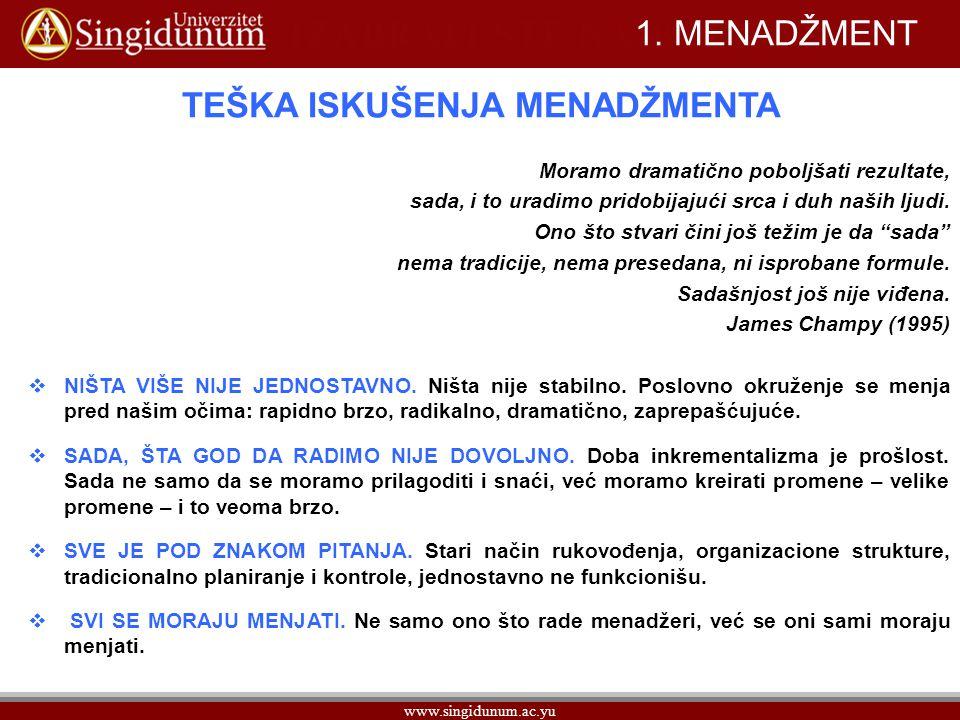 www.singidunum.ac.yu 1.MENADŽMENT 1.1.