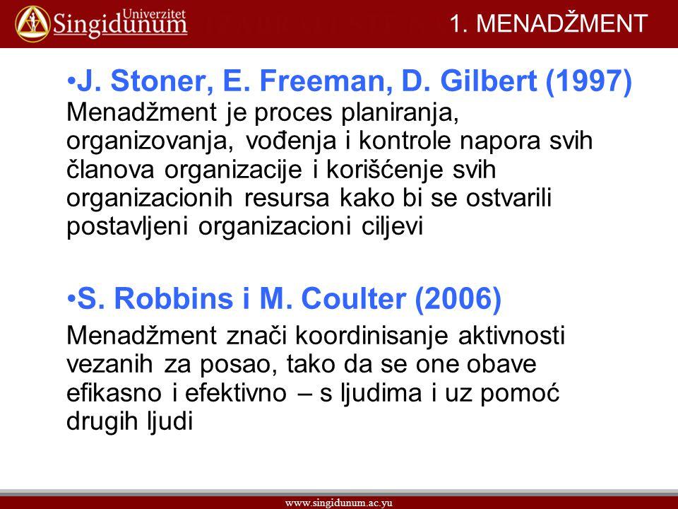 www.singidunum.ac.yu 1.MENADŽMENT Peter F.